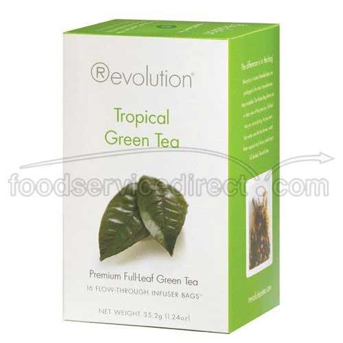 Revolution Tea Tropical Green Tea, 16 Count