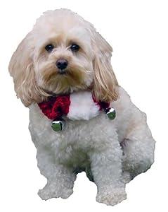 Kyjen Christmas Dog Collar, Medium, Red/ White