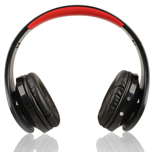 Vktech Wireless Cordless Sd Tf Card Stereo Headset Headphone For Mp3/4 Pc Cd Black