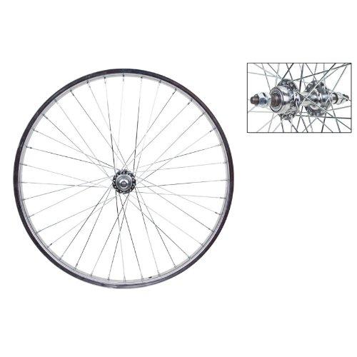 Wheel Master Rear Bicycle Wheel 24 x 1.75 36H, Steel, Bolt On, Silver