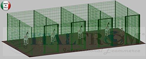 Recinto box modulare per cani in ferro zincato e for Recinto per cani amazon