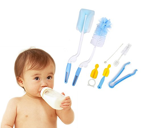 iLifeTech Baby Rotary Spinning Bottle and Nipple Brush Set Baby Bottle Kit - 1
