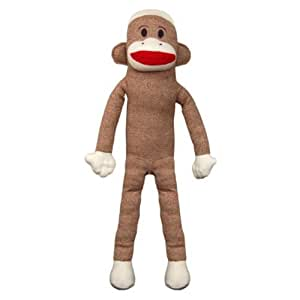38 giant sock monkey maxx plush stuffed animal toys games. Black Bedroom Furniture Sets. Home Design Ideas