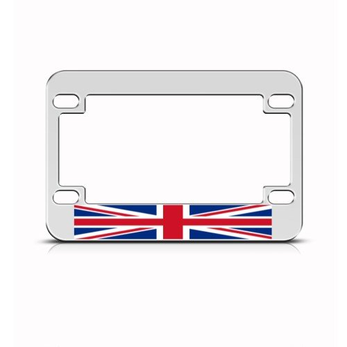 British Britain Flag Metal Motorcycle Bike License Plate Frame Tag ...