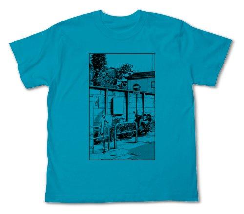 おやすみプンプン 街角のプンプンTシャツ ターコイズブルー サイズ:M