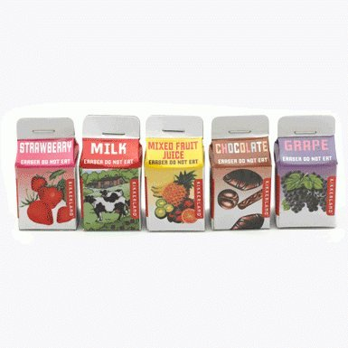 Drinks Carton Erasers (x6)||AFTST