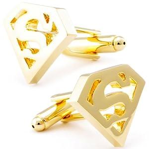 Superman Gold Cufflinks-CL-0150