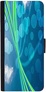 Snoogg Blue Nature Abstract Bokeh Background Designer Protective Flip Case Co...