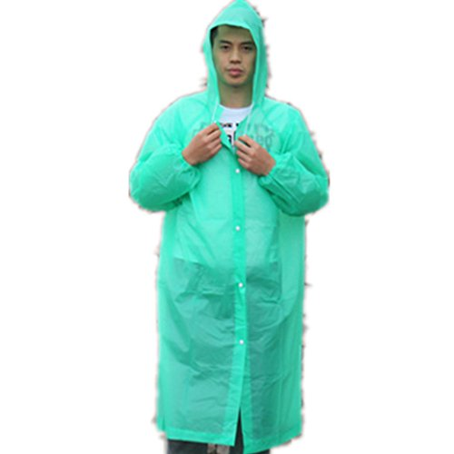 Cirkleoutdoor Raincoat Rain Poncho with Hoods Slicker and Sleeves Rain Coat Wind Coat PVC (random color)