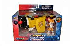 Sonic Sega All Stars Racing Vehicle with 3 Inch Figure Miles Tails Prower
