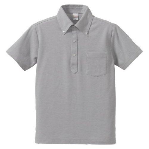 (Athle) UnitedAthle 5.3 oz drykanocoutilitipolo shirt (s) (with Pocket) 505101 443 OXGray XL
