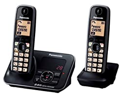 Panasonic 2.4GHz KX-TG3722SXB Digital Cordless Telephone (Black)