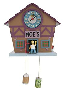 Simpsons Homer Moe's Tavern Talking Cuckoo Clock