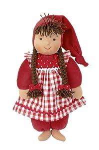 Kathe Kruse Waldorf Schatzi Plush Doll, Red