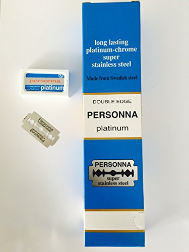 ** 200 ** TWO HUNDRED Personna Platinum Double Edge Razor Blades - Made from Swedish Steel (Razor Platinum compare prices)