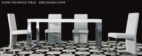 AC803-255 Extend-able White Dining Table