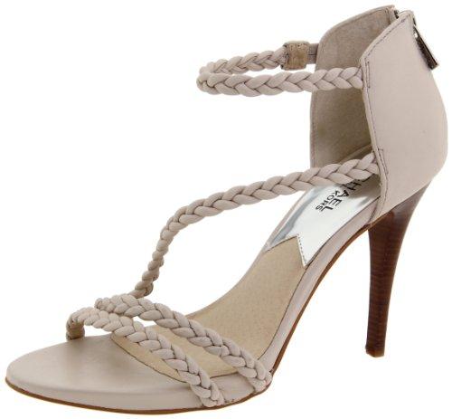 Michael Michael Kors Women'S Alexa High Sandal T-Strap Sandal,Vanilla,7.5 M Us