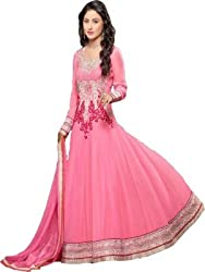 Stutti Fashion Exclusive Pink Color Georgette Semi-stiched Suit