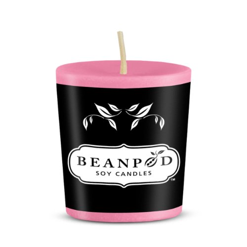Beanpod Candles Plumeria, Votive,  (Pack of 18)