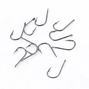 10 Pcs 2# Eyeless Barbed Metal Tackle Fishhook for Fishing Lover