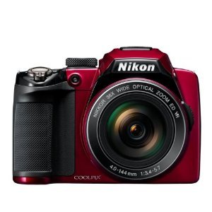 Nikon COOLPIX P500 12.1 CMOS Digital Camera with 36x NIKKOR Wide-Angle Optical Zoom Lens and Full HD 1080p Video (Red)