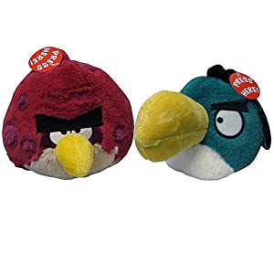 Angry Birds Plush 5-Inch Big Bro and Toucan Assortment with Sound