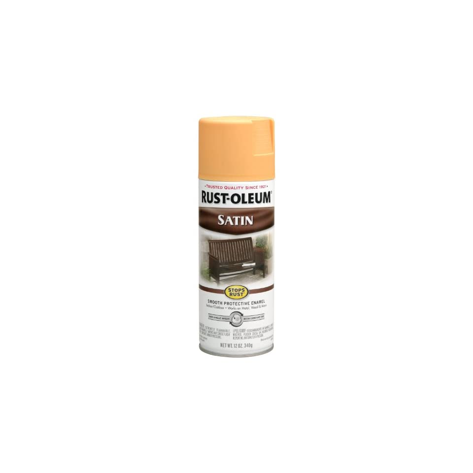 Rust Oleum 250896 12 Ounce Spray Paint, Satin Amber