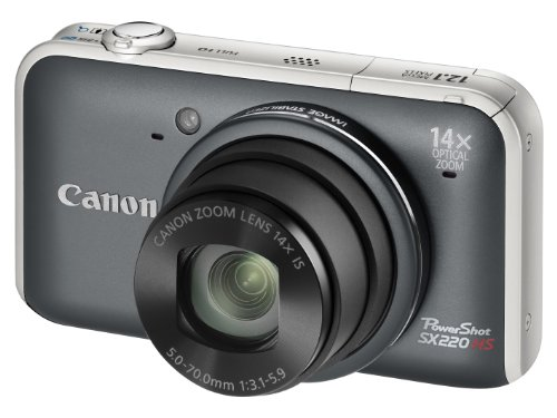 Canon PowerShot SX220 HS Digital Camera - Grey (12.1MP, 14x Optical Zoom)  3.0 inch LCD