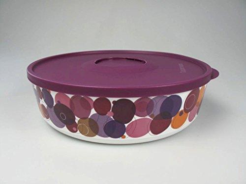 TUPPERWARE Iluminas 2,5L piatto contenitore barattolo rotondo cerchi viola