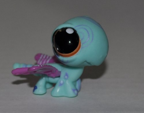 Dragonfly #1232 (Blue, Brown Eyes, Purple Wings) - Littlest Pet Shop (Retired) Collector Toy - LPS Collectible Replacement Single Figure - Loose (OOP Out of Package & Print)