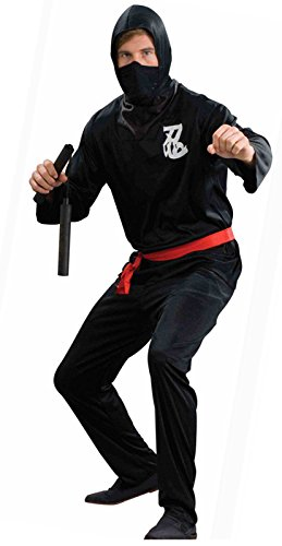 Adult Men's Ninja Warrior Costume Black