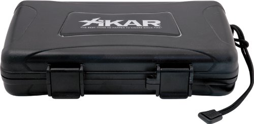 Xikar Knives & Cigar Cutters 205Xi Travel Humidor With Crushproof Black Abs Construction