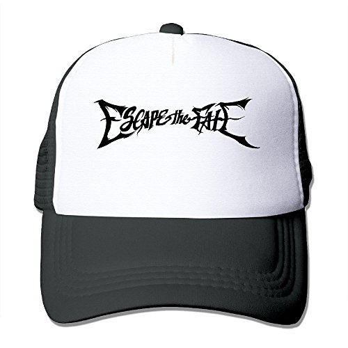 xcarmen Red Escape The Fate American Rock Band Fitted Hats Black snapback Black