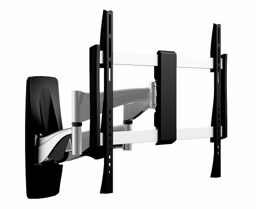 OSD Audio TSM-19-464X Full Motion Universal Wall Bracket Aluminum, Low Profile Single Arm Design Fits Flat Panels for 32-Inch to 60-Inch TV, 2-Piece (Black/Silver)