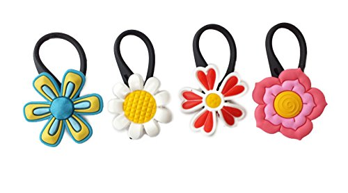 4 pcs Large Flowers Soft Zipper Pull Charms for Backpack Bag Pendant Jacket