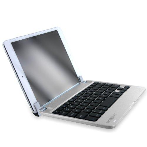 MiniSuit NewYorkApple iPad mini Bluetooth ワイヤレス キーボード ハード素材 サテンフィニッシュ スタンドカバー 全5色 シルバー