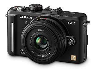 Panasonic Lumix GF1 12.1MP Digital System Camera 20mm Lens Kit - Black