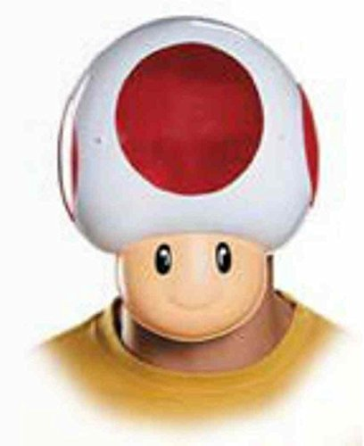[Toad Mask Super Mario Brothers Nintendo Halloween Adult Costume Accessory] (Super Mario Brothers Toad Toddler Costume)