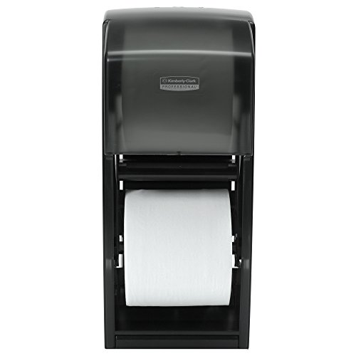 Kimberly-Clark Professional 09021 Coreless Double Roll Bath Tissue Dispenser, 6 6/10 x 6 x13 6/10, Plastic, Smoke