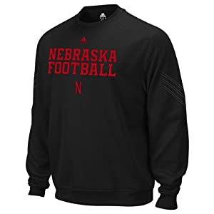 NCAA adidas Nebraska Cornhuskers Practice Stitch Pin Dot Performance Sweatshirt -... by adidas