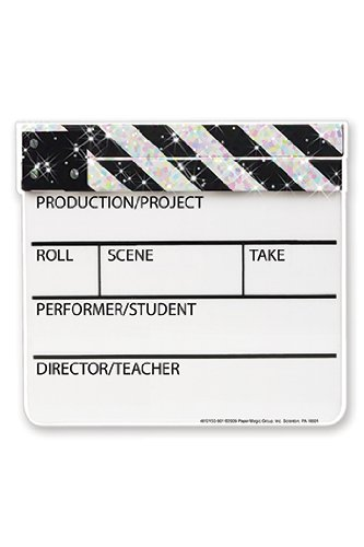 Eureka Sparkle Paper Cut-Outs 36 Hollywood Clapboards - 1