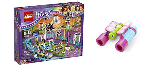 LEGO Friends Amusement Park Roller Coaster 1124 Pcs & free Gifts Butterfly Binoculars (Colors may vary) Toys (Lego Soda Truck compare prices)