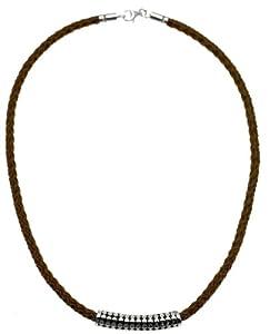 Seven London SMN0023 - Collar de hombre de plata, 46 cm