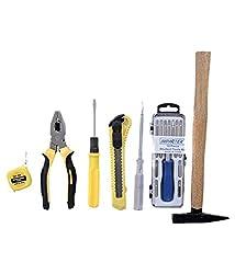 VelVeeta Regular Home travelling Requirements Screwdriver Hammer Plier Cutter Measuring Tape Tester Perfect Tool Kit 25 Set