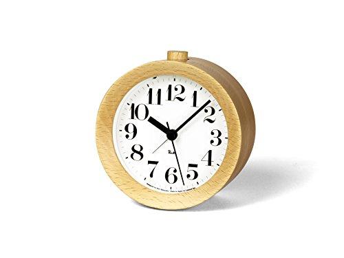Lemnos Riki Wooden Alarm Clock Natrual