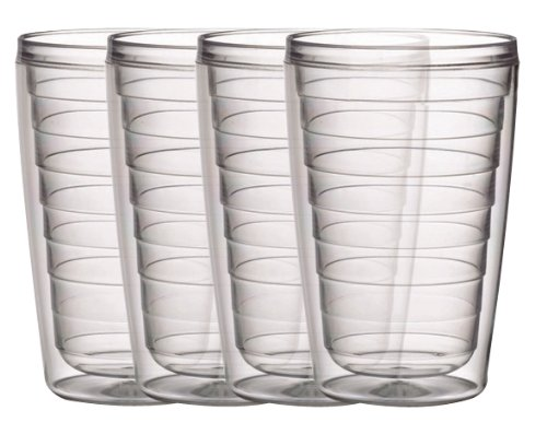 Boston Warehouse Clear 16-Ounce Insulated Tumbler, Set of 4 (Insulated Acrylic Glasses compare prices)