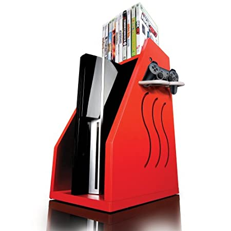 GameOn Video Gaming Console Storage - Red