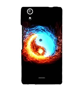 printtech Chinese Yin Yang Fire Ice Back Case Cover for Micromax Canvas Selfie Lens Q345