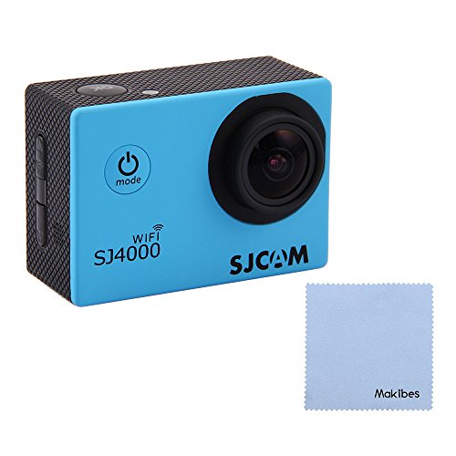 Sjcam Original Sj4000 Wifi Action Camera 12Mp 1080P H.264 1.5 Inch 170° Wide Angle Lens Waterproof Diving Hd Camcorder Car Dvr With Free Makibes Cleaning Cloth (Blue) front-222965