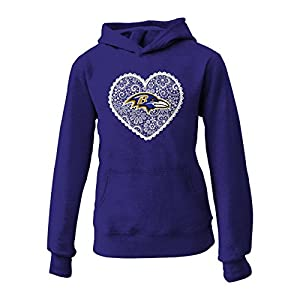 NFL Baltimore Ravens Youth Don't Be Gray Fleece Hoodie (Age 7-16) by Outerstuff/Adidas Licensed Youth Apparel